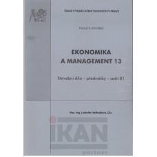 Ekonomika a management 13 - Stavební dílo - přednášky - sešit A1,sešit A2, sešit B1,sešit B2