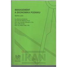 Management a ekonomika podniku